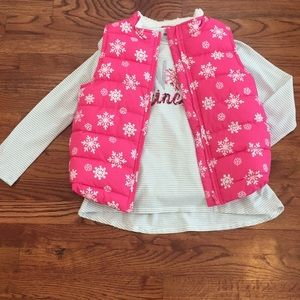 Gymboree puffer vest and top
